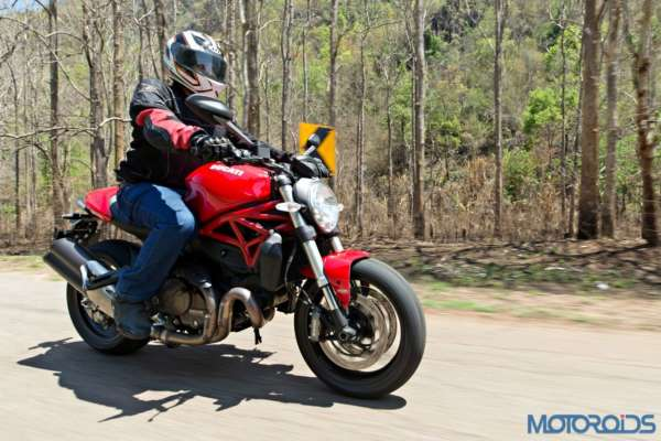 Ducati Monster 821 Review - Action Shots (4)