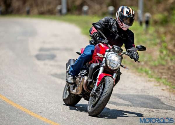 Ducati Monster 821 Review - Action Shots (6)