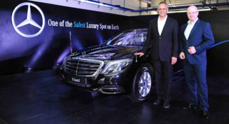 From L-R Eberhard Kern MD &CEO, Mercedes-Benz India and Markus Rubenbauer, Head Sales & Marketing, M