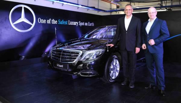 From L-R Eberhard Kern MD &CEO, Mercedes-Benz India and Markus Rubenbauer, Head Sales & Marketing, Mercedes-Benz Guard