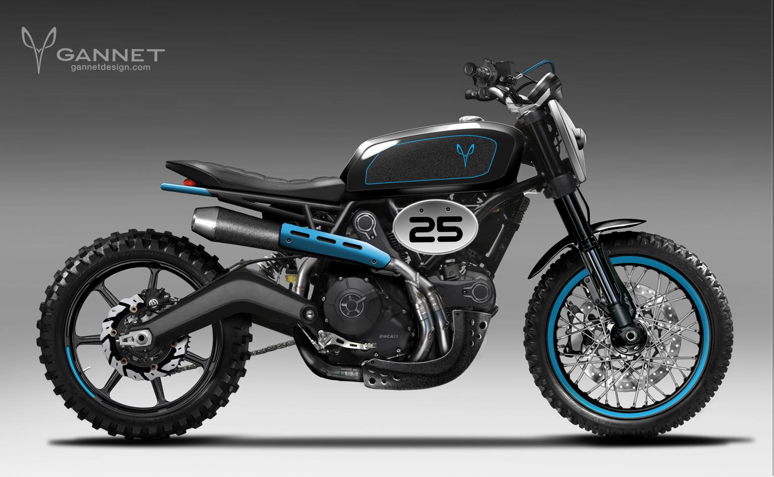 Custom Ducati Scrambler Tracker 3
