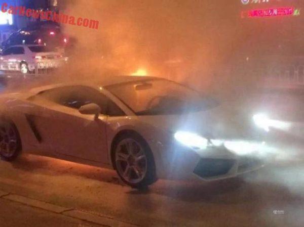 Lamborghini Gallardo on fire (3)
