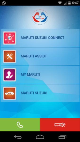 Maruti-Care-App-Main-Page