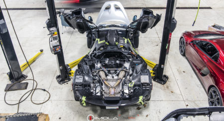 Mclaren P1 stripped for bulb replacement