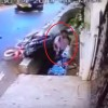 VIDEO: Motorcyclists have close shave with death after ramming into auto-rickshaw