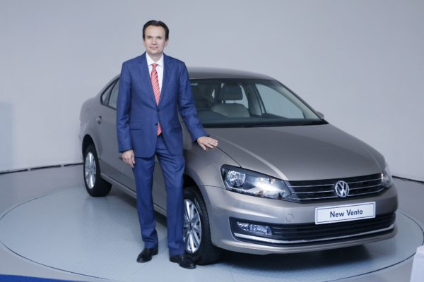 Mr. Michael Mayer, Director, Volkswagen Passenger Cars India with the New Vento