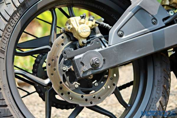 New Bajaj Pulsar AS150-AS200 Review - AS200 - Details - Rear Brakes (1)