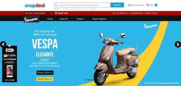 Piaggio on Snapdeal