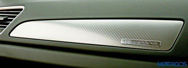 2015 Audi Q3 aluminium insert in dashboard(22)