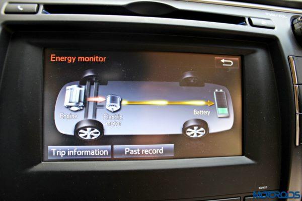 2015 Toyota Camry Hybrid infotainment screen (2)