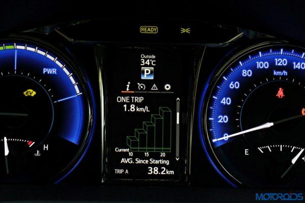 2015 Toyota Camry Hybrid instrument console (10)
