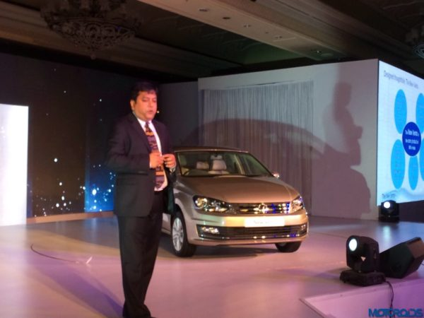 2015 Volkswagen Vento facelift launch Kamal Basu VW India Marketing Head