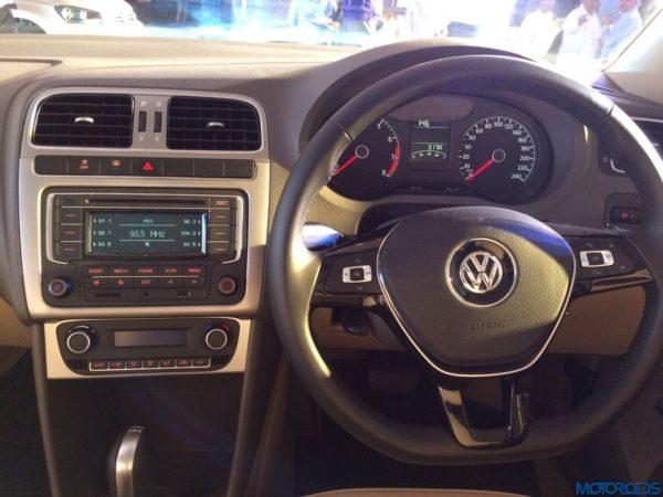 2015 Volkswagen Vento facelift launch interior (2)