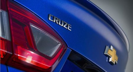 2016 Chevrolet Cruze rear name badege