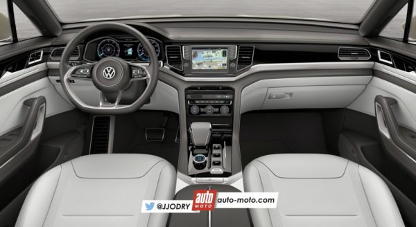 2016 VW Tiguan interior rendering