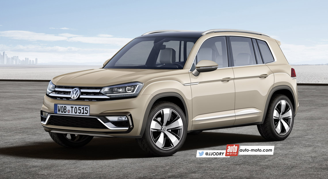 india bound 2016 volkswagen tiguan exterior and interior rendered motoroids. Black Bedroom Furniture Sets. Home Design Ideas