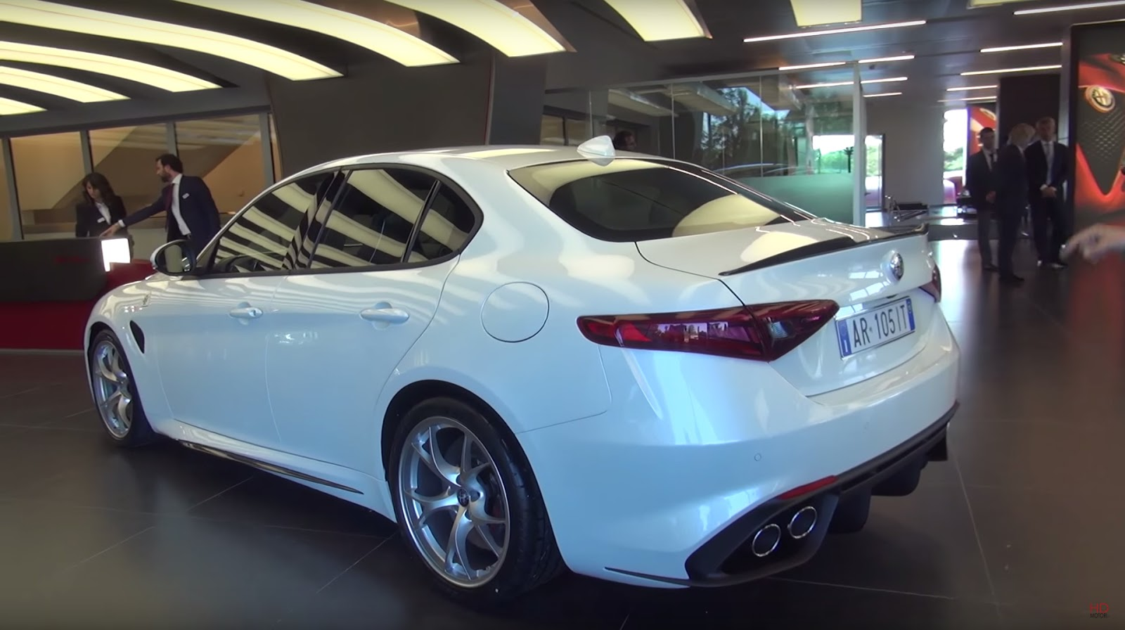 the much awaited alfa romeo giulia is here and is already sniffing german blood motoroids. Black Bedroom Furniture Sets. Home Design Ideas
