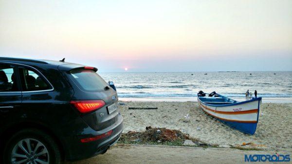 Audi Q5 on the Malpe beach