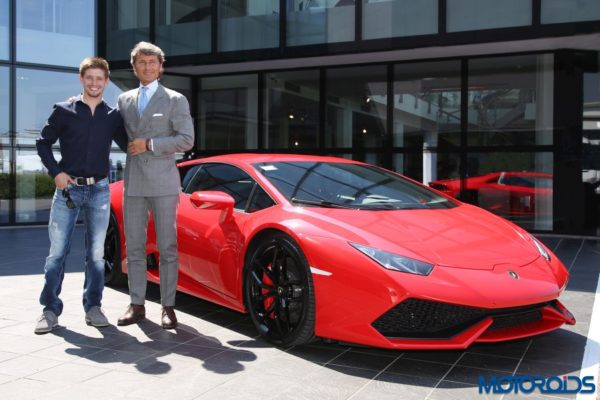 Casey Stoner Visits Lamborghini Automobili (2)