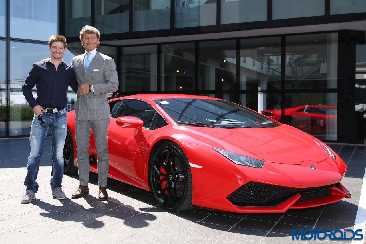 MotoGP racer Casey Stoner visits Automobili Lamborghini in Sant'Agata Bolognese   Motoroids