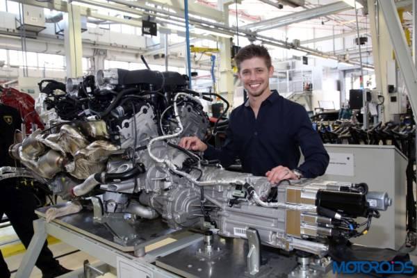 Casey Stoner Visits Lamborghini Automobili (3)
