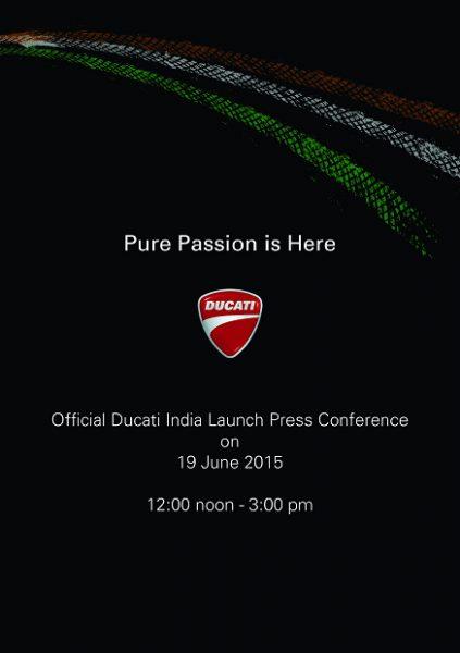 Ducati India Launch - Media Invite