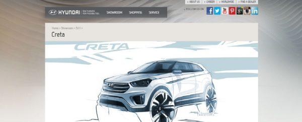 Hyundai Creta website