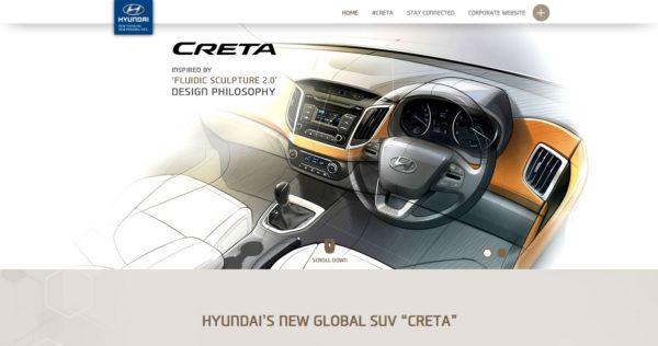 Hyundai Creta live website