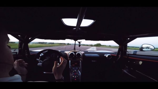 Koenigsegg One speed record 0-300-0
