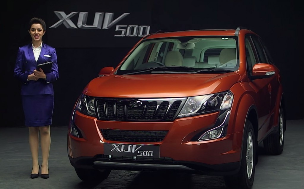 Mahindra XUV500 facelift pretty girl