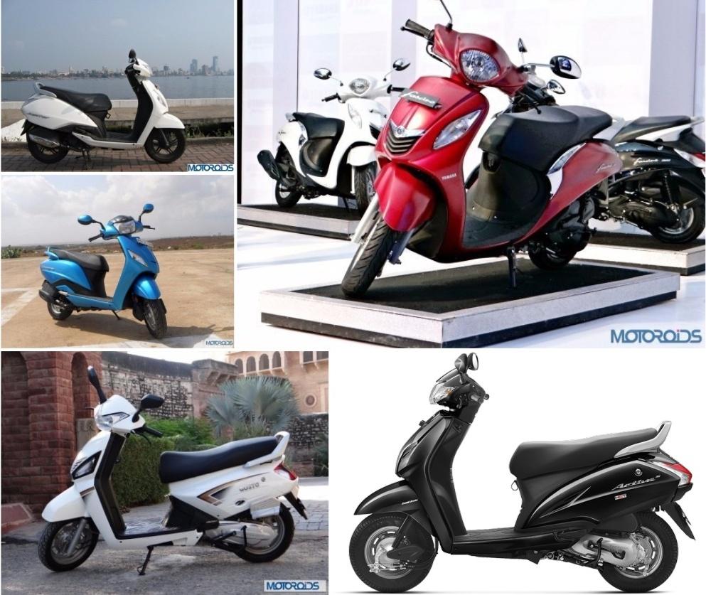 Yamaha Fascino Vs Honda Activa 3g Vs Tvs Jupiter Vs