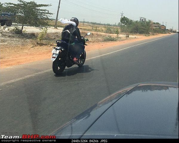 New TVS Motorcycle Spied - 3