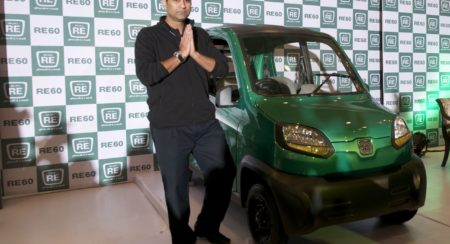 Rajiv Bajaj with the RE60