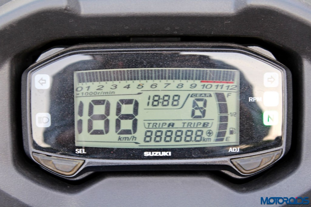 Suzuki Gixxer SF instrument console (2)