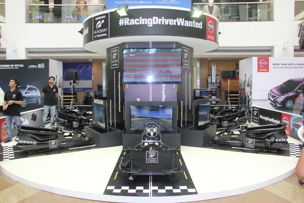 Virtual race stimulator at Infinity 2 - Nissan GT Academy