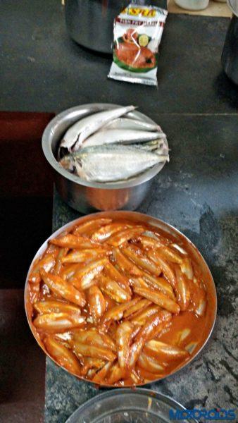marinated mandili fish