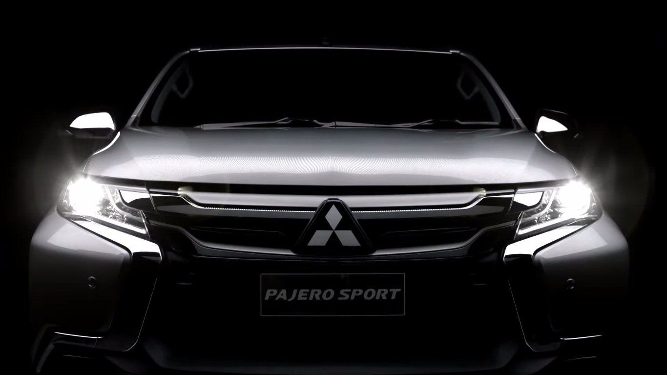 Video 2016 mitsubishi pajero sport teaser released micro website goes live motoroids