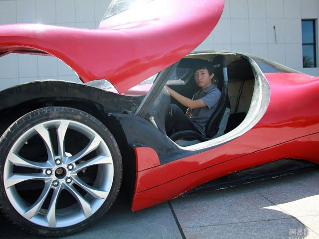 27-year old Chinese man builds his own electric super-car (8)