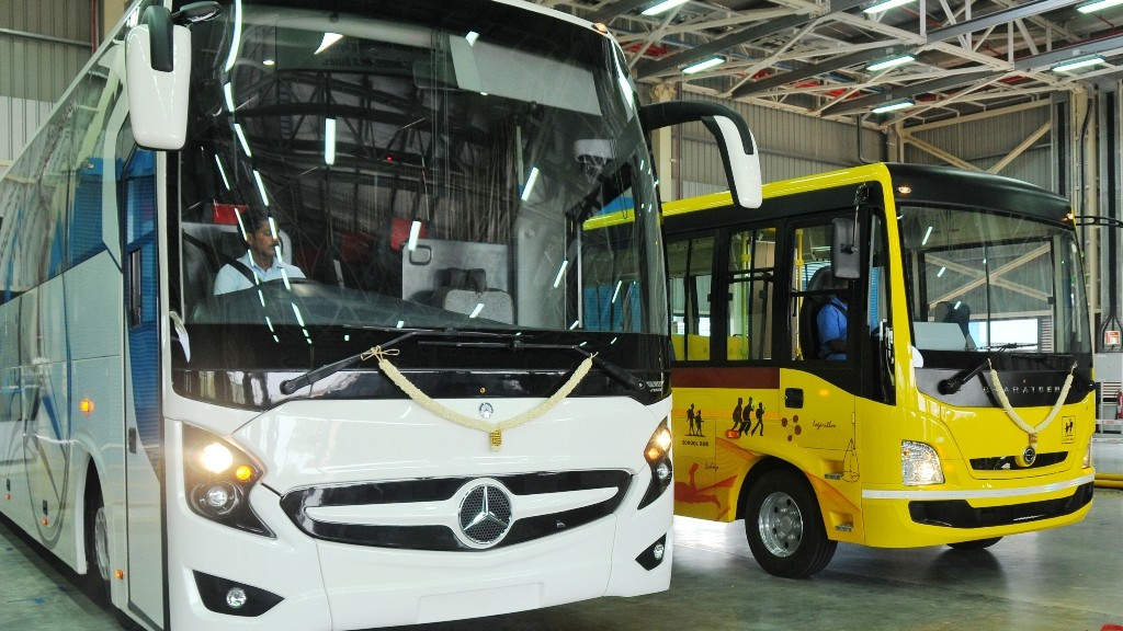 BharatBenz and Mercedes-Benz buses