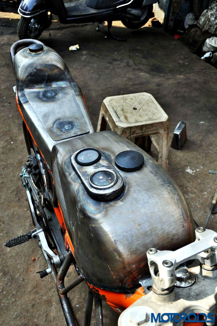 """This crazy looking custom built RD350 namely """"Flying Sikh"""