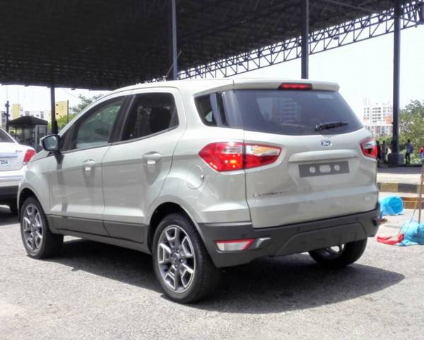 Facelifted Ford EcoSport rear