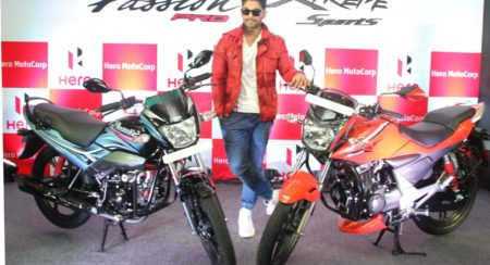 Hero MotoCorp Brand Ambassador and Southern Superstar Allu Arjun unveils new Hero Xtreme Sports and