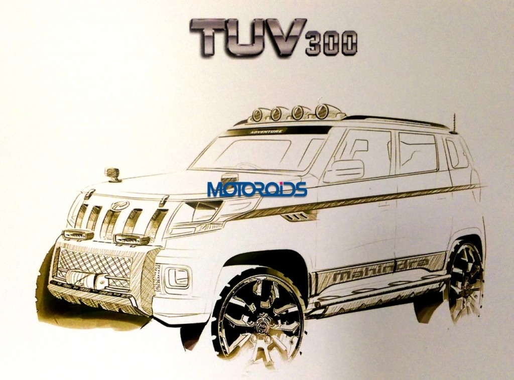 Mahindra TUV300 official sketches (1)