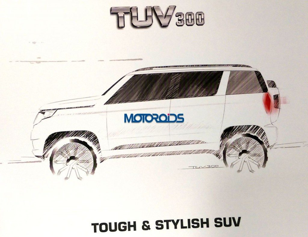 Mahindra TUV300 official sketches (2)