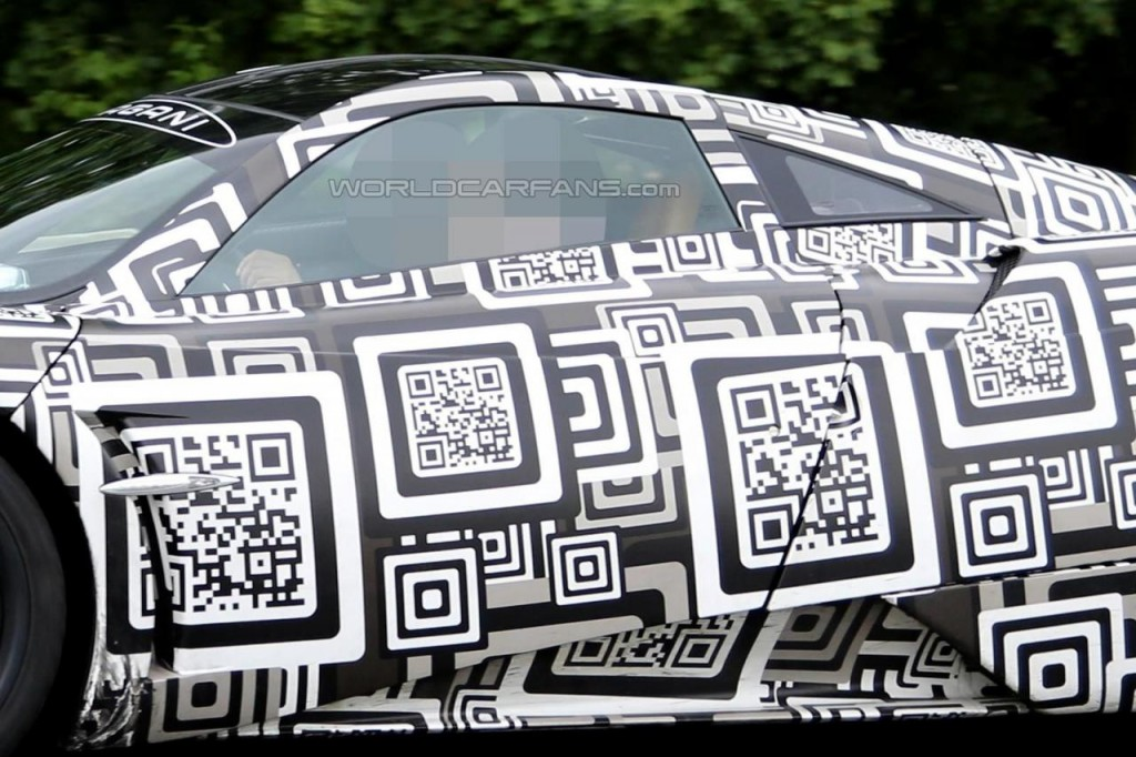 New Pagani Huayra test mule spied barcodes