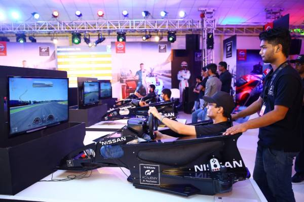 Nissan GTA Academy finalists in action in Chennai