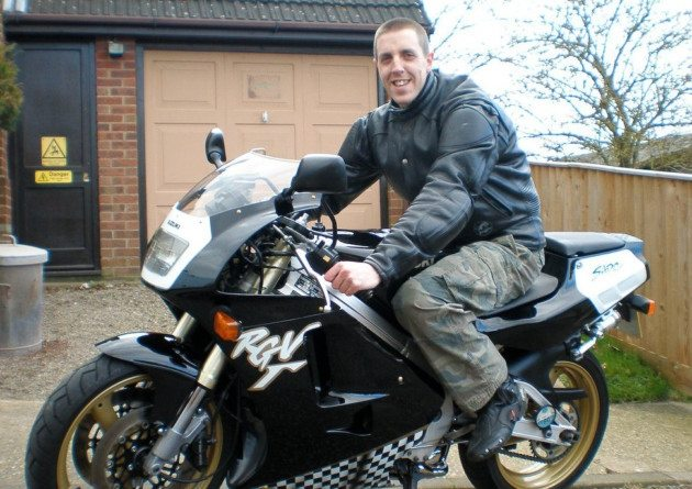 Rider David Holmes crash caught on helmet cam