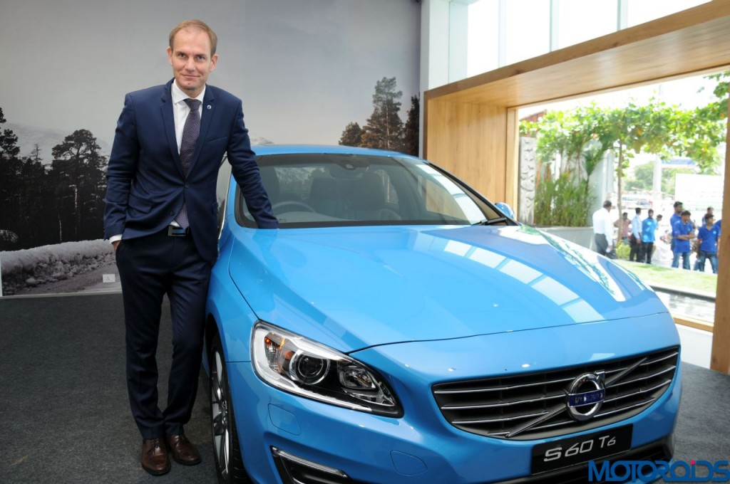 Tom von Bonsdorff, Managing Director, Volvo Auto India at S60 T6 Launch in Chennai.