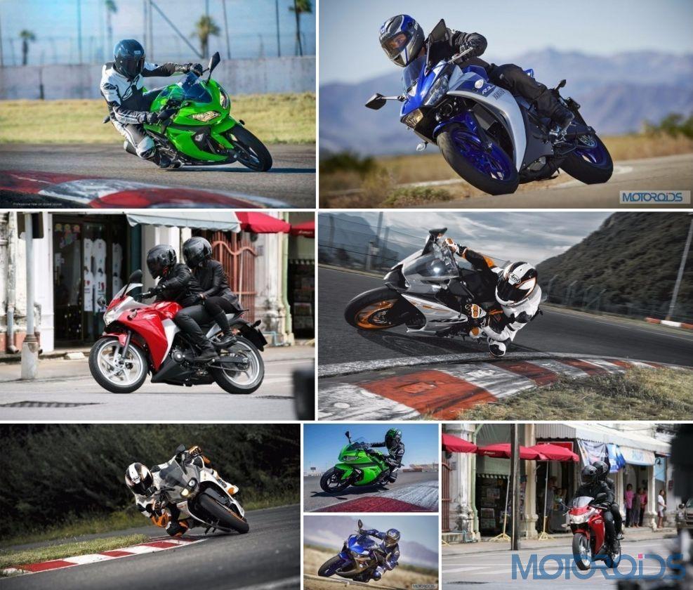 Yamaha Yzf R3 Vs Kawasaki Ninja 300 Vs Ktm Rc390 Vs Honda Cbr250r