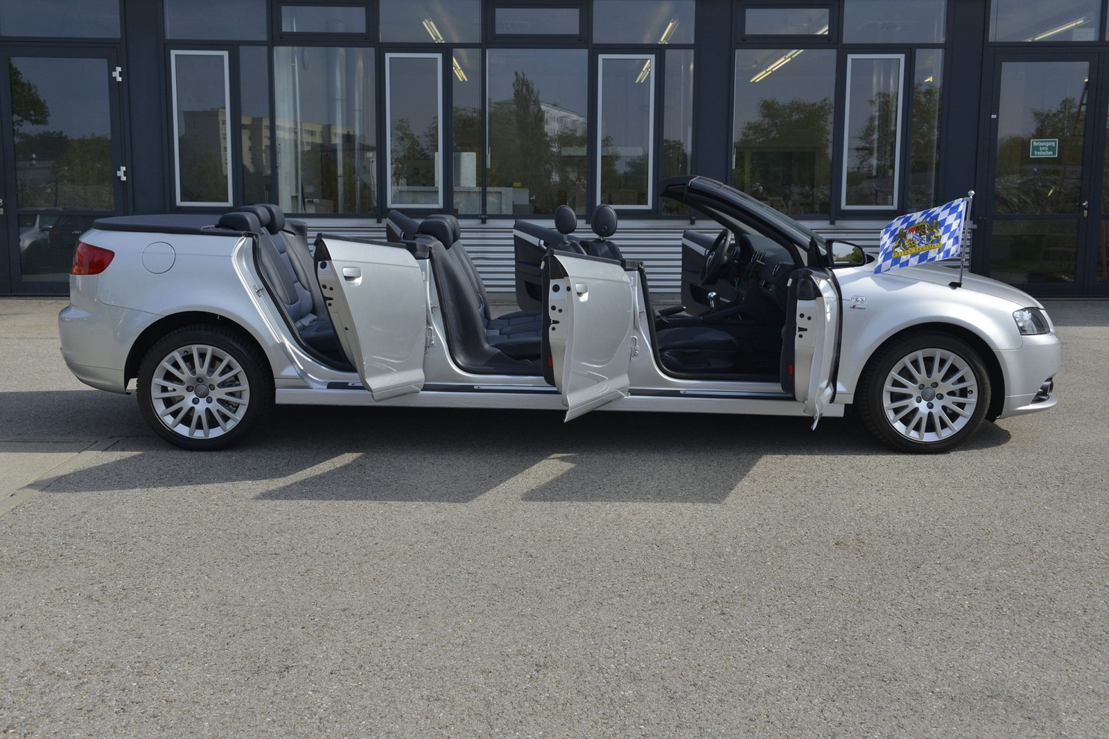 The Audi A3 Cabriolet Xxl Gets Six Doors And Eight Seats